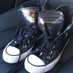 CoNVeRSe BLacK HoLoGraM SuPeR CuTe WoMeNs siZe 7